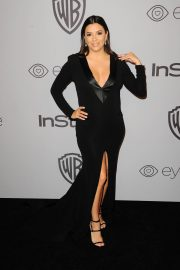 Pregnant Eva Longoria Stills at Instyle and Warner Bros Golden Globes After-party in Los Angeles 2018/01/07