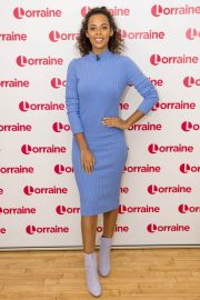 Rochelle Humes Stills at Lorraine Show in London 2018/02/02