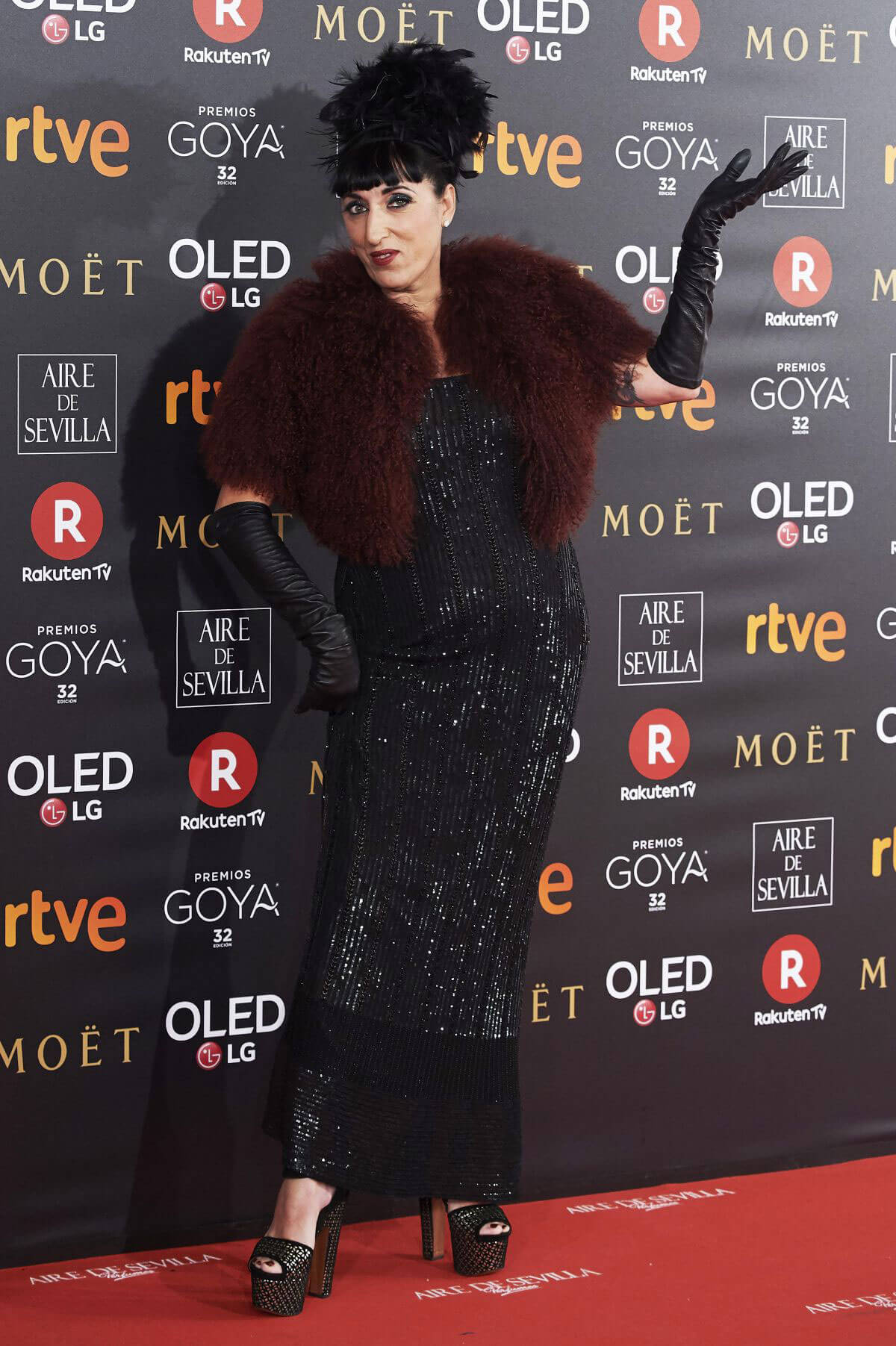 Rossy de Palma Stills at 32nd Goya Awards in Madrid 2018/02/03