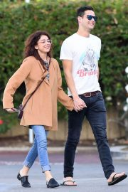 Sarah Hyland and Wells Adams Stills at Gelson's Grocery Store in Los Angeles 2018/02/11