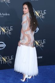 Sasha Lane Stills at A Wrinkle in Time Premiere in Los Angeles 2018/02/26