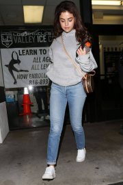Selena Gomez Stills at Kings Valley Ice Center in Los Angeles 2018/01/31