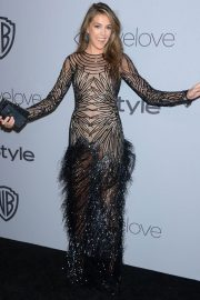 Sistine Rose Stallone Stills at Instyle and Warner Bros Golden Globes After-party in Los Angeles 2018/01/07