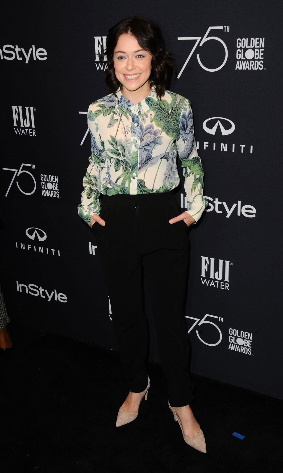 Tatiana Maslany Stills at HFPA & Instyle Celebrate 75th Anniversary of the Golden Globes in Los Angeles 2017/11/15