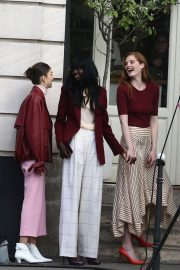 Alexina Graham and Luma Grothe Stills Shooting for L'Oreal at Carreaux Du Temple in Paris 2018/03/26