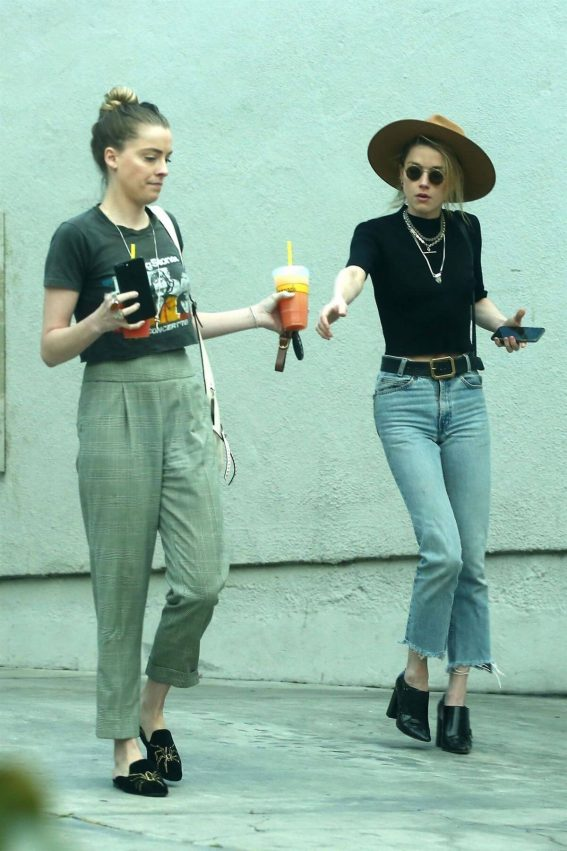 Amber and Whitney Heard Stills Out for Lunch in Los Angeles 2018/03/12