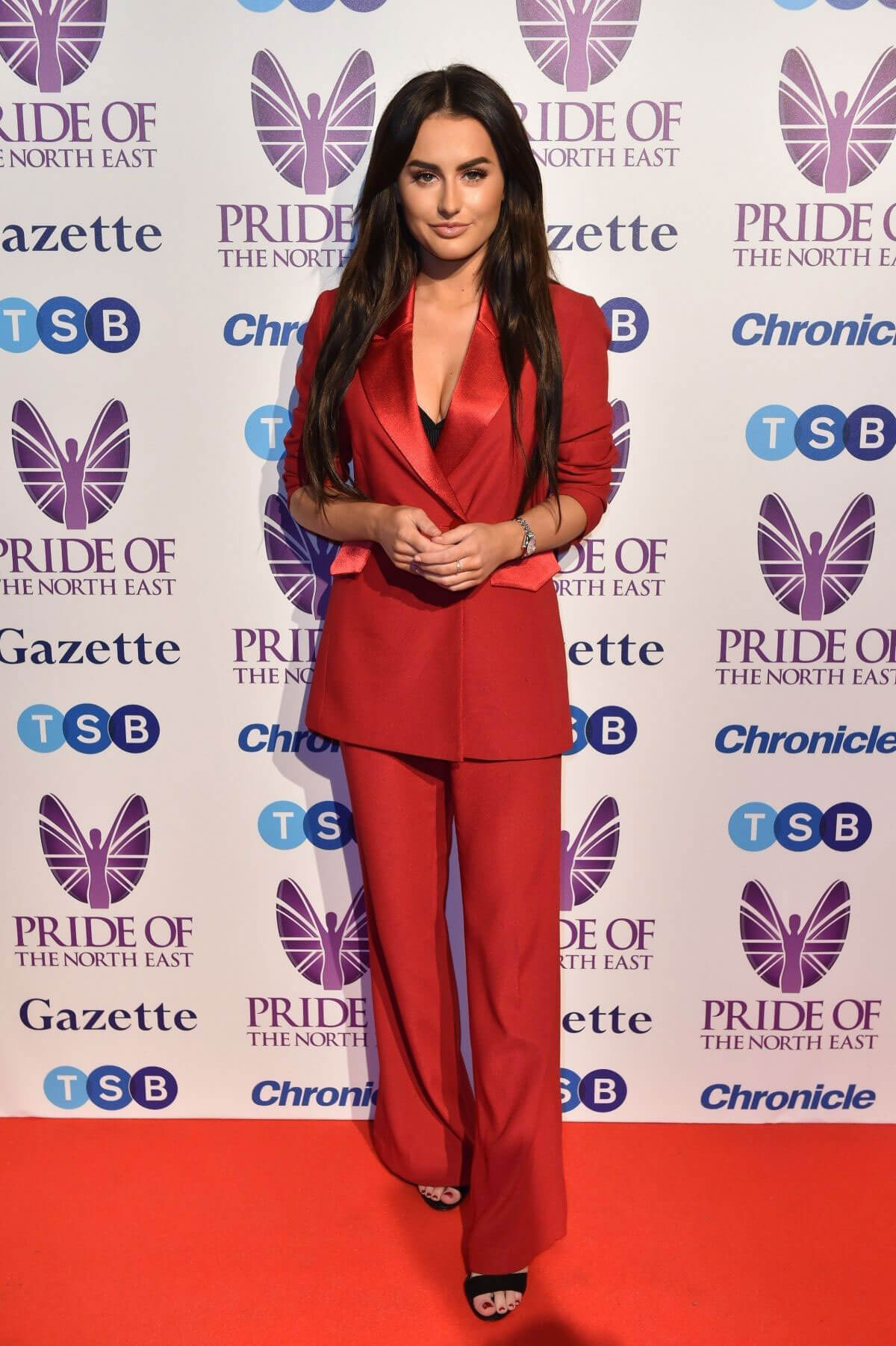Amber Davies Stills Arrives at Pride of the North East Awards in Newcastle 2018/03/27