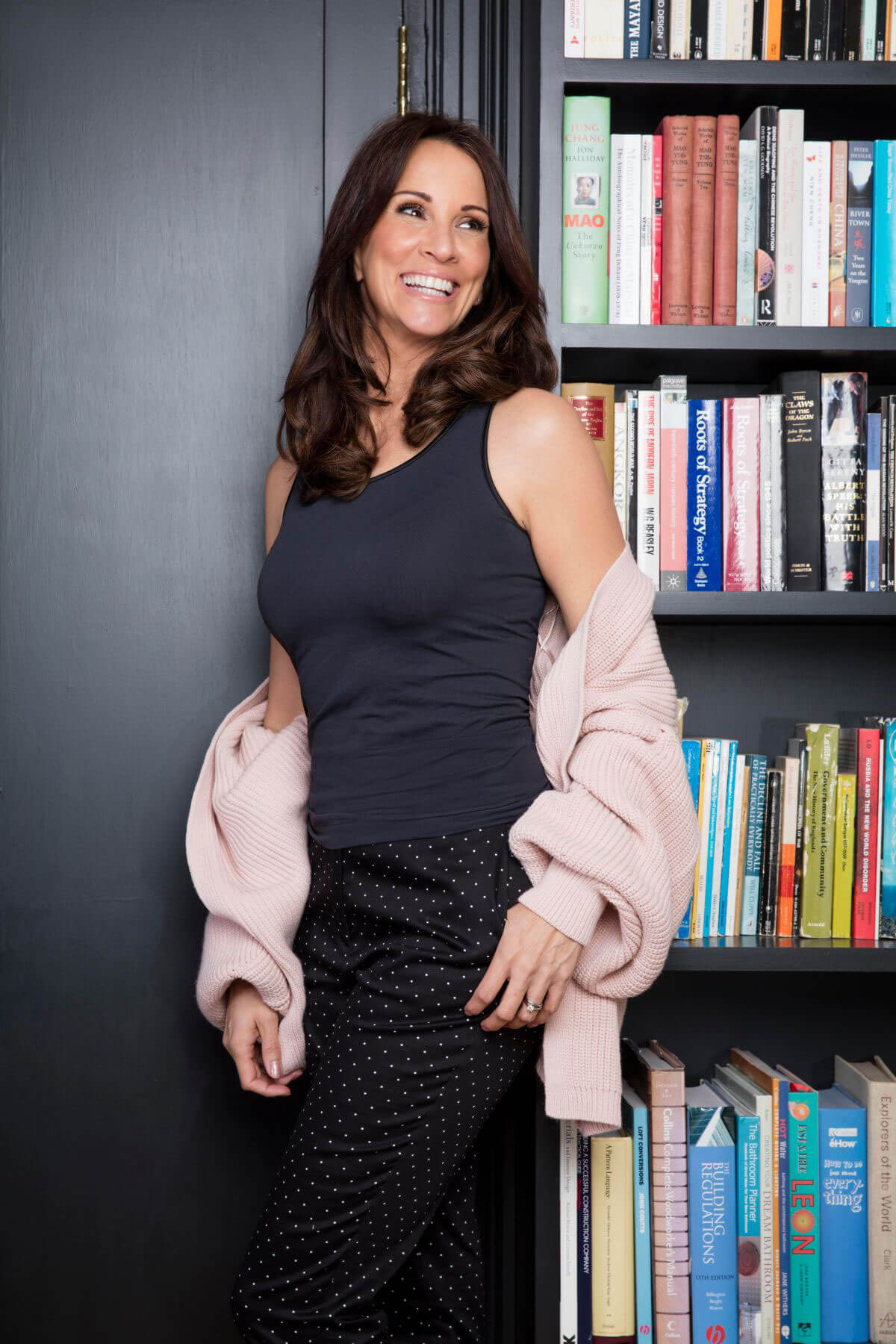 Andrea McLean Poses for Become Underwear Campaign, March 2018 Issue