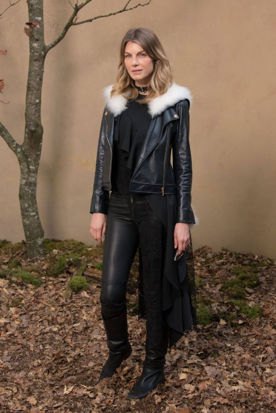 Angela Lindvall Stills at Chanel Forest Runway Show in Paris 2018/03/06
