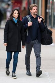 Annie Parisse and Paul Sparks Stills Out in New York 2018/03/28 2