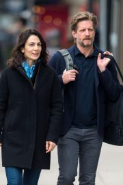 Annie Parisse and Paul Sparks Stills Out in New York 2018/03/28 10