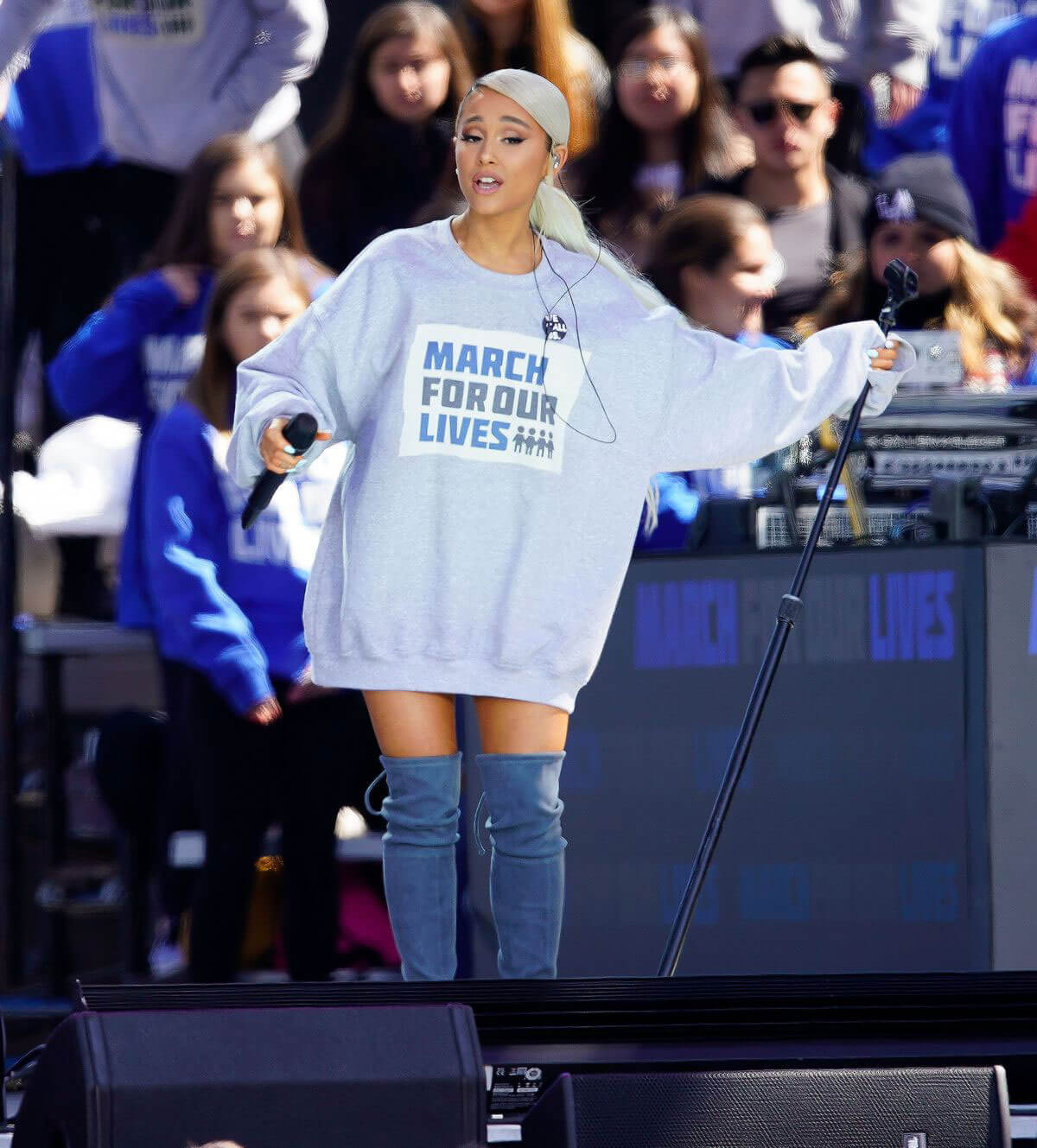 Ariana Grande Stills at March for Our Lives in Washington, DC 2018/03/24