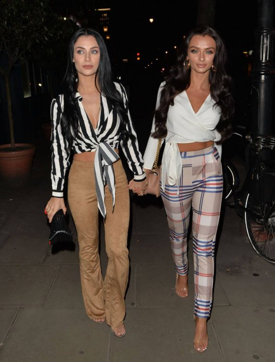 Cally Jane Beech and Kady McDermott Stills at Roka Restaurant in London 2018/03/22