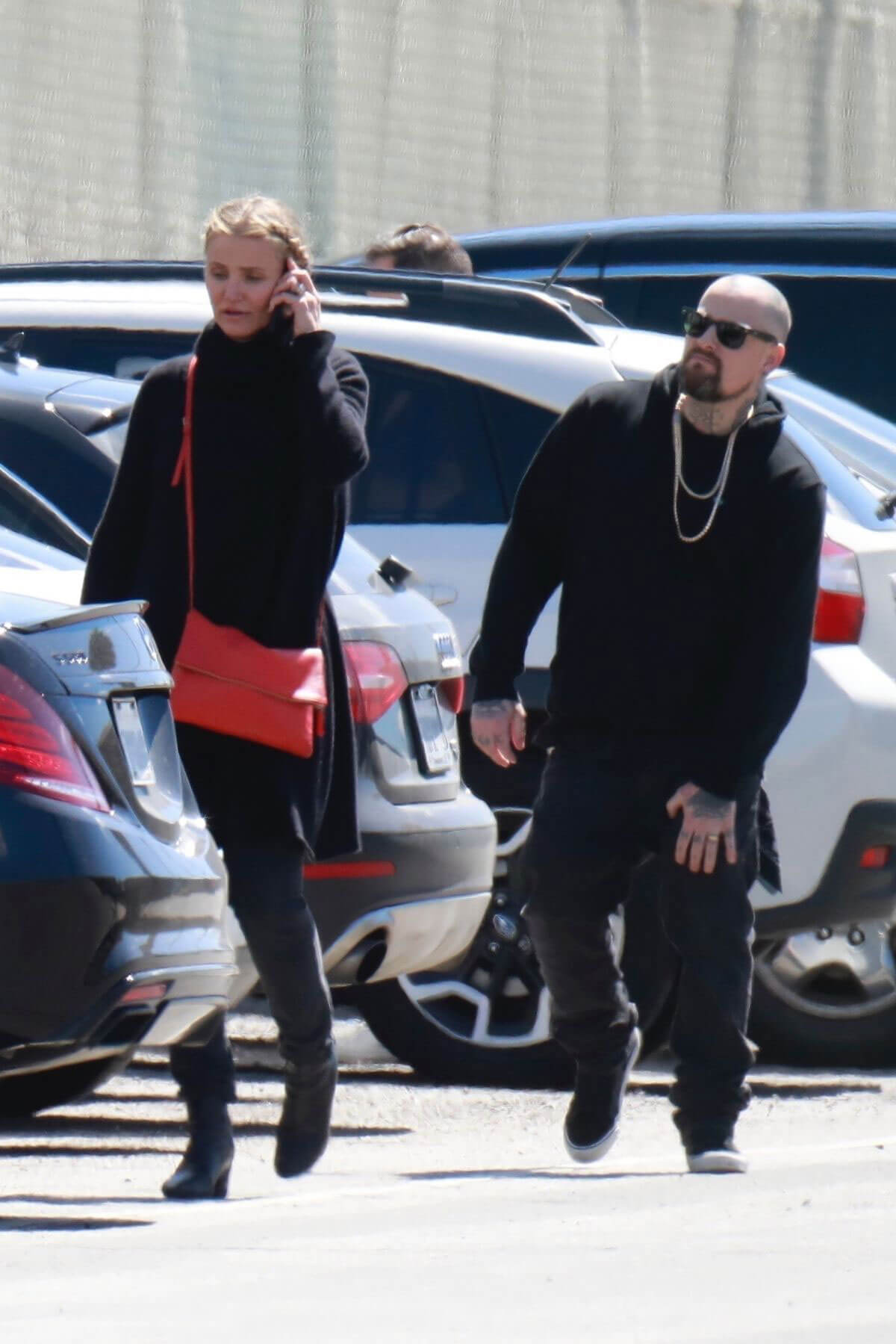 Cameron Diaz And Benji Madden Stills Arrives At A St