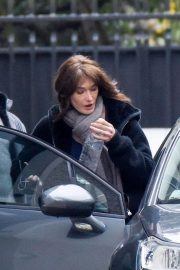 Carla Bruni-Sarkozy Stills Leaves Her Home in Paris 2018/03/23
