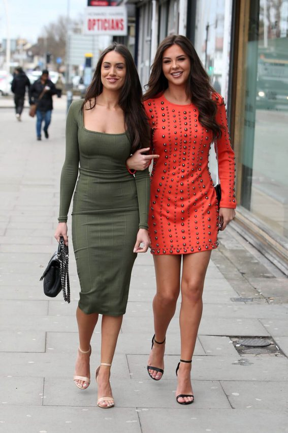 Clelia Theodorou and Shelby Tribble Stills on the Set of TOWIE in London 2018/03/29 14