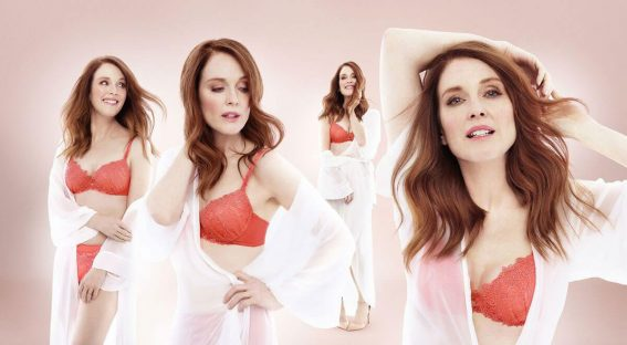 Julianne Moore Poses for Triumph Lingerie, Spring/Summer 2018 Photos