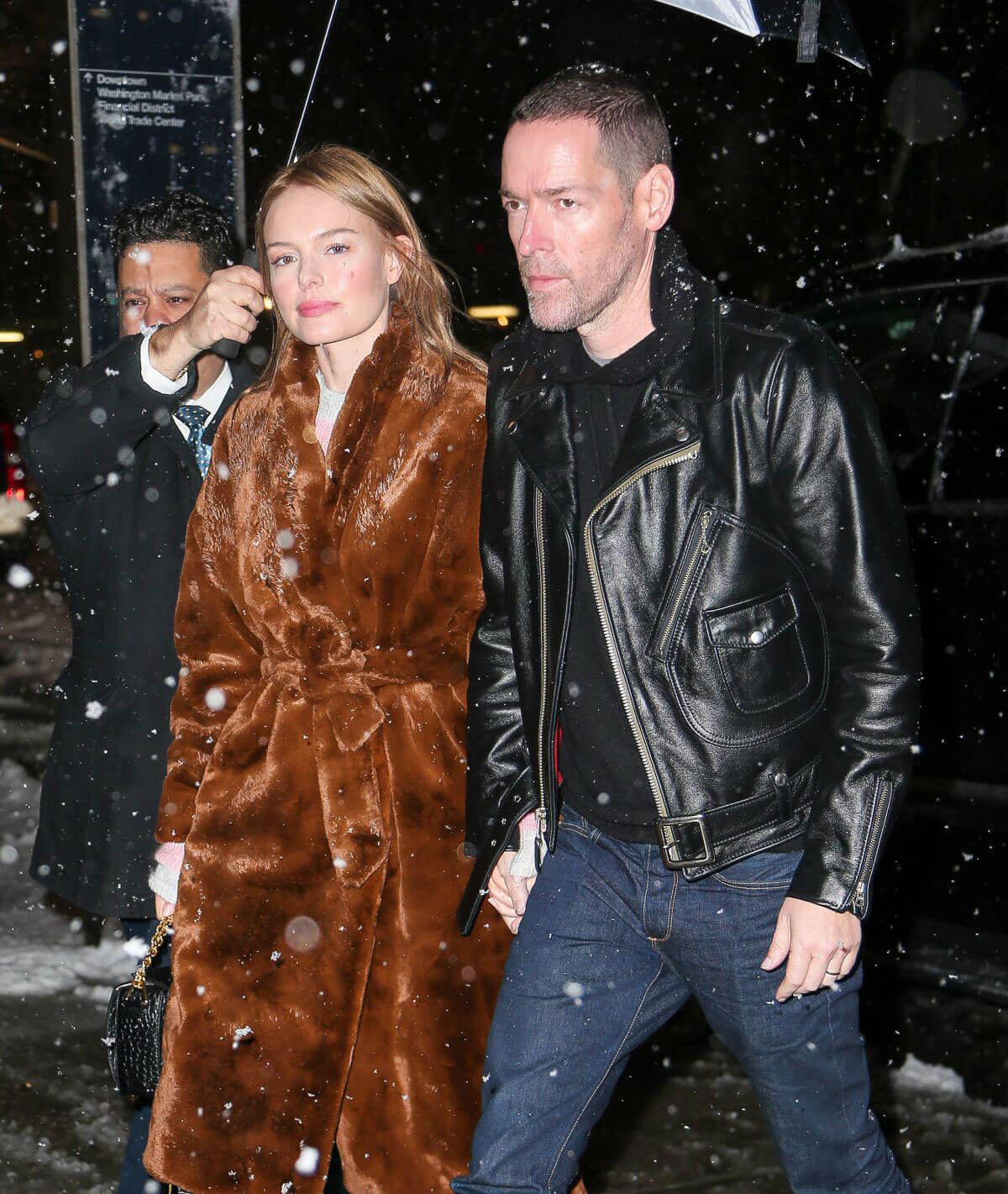 Kate Bosworth and Michael Polish Stills Night Out in New York 2018/03/08