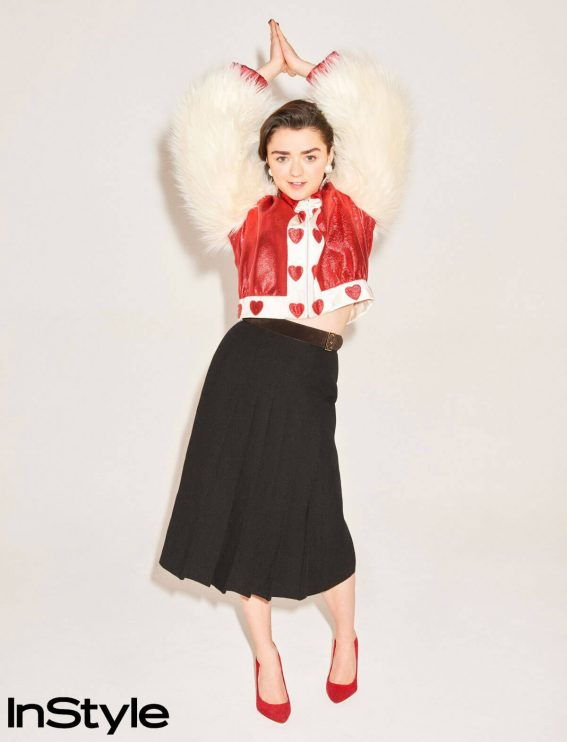 Maisie Williams Poses for Instyle Magazine, April 2018 Issue