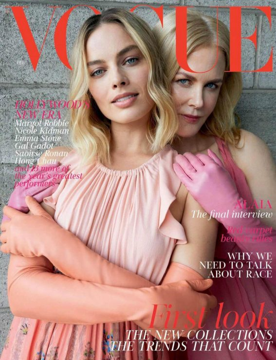 Margot Robbie and Nicole Kidman Stills are the cover stars of the February 2018 Issue