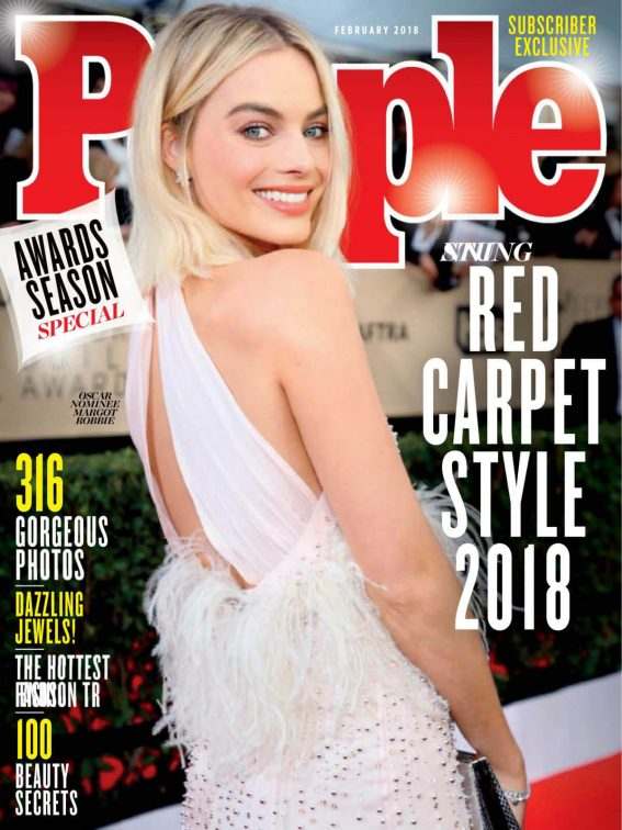 Margot Robbie Poses for People Magazine, Red Carpet Special February 2018 Issue