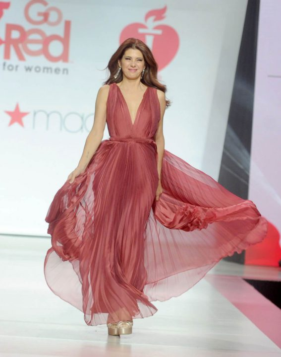 Marisa Tomei Stills in Gown by Galia Lahav at Red Dress 2018 Collection Fashion Show in New York 2018/02/08