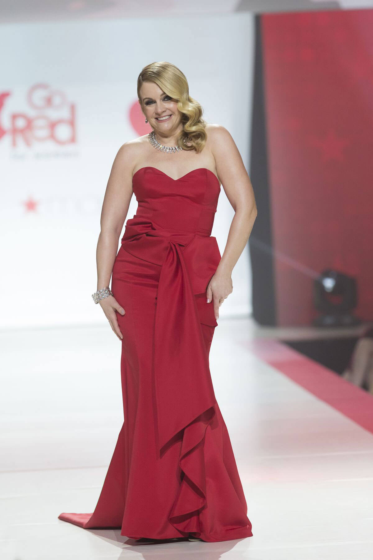 Melissa Joan Hart Stills in Gown by Galia Lahav at Red Dress 2018 Collection Fashion Show in New York 2018/02/08