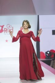 Pregnant Ginger Zee Stills in Gown by Galia Lahav at Red Dress 2018 Collection Fashion Show in New York 2018/02/08