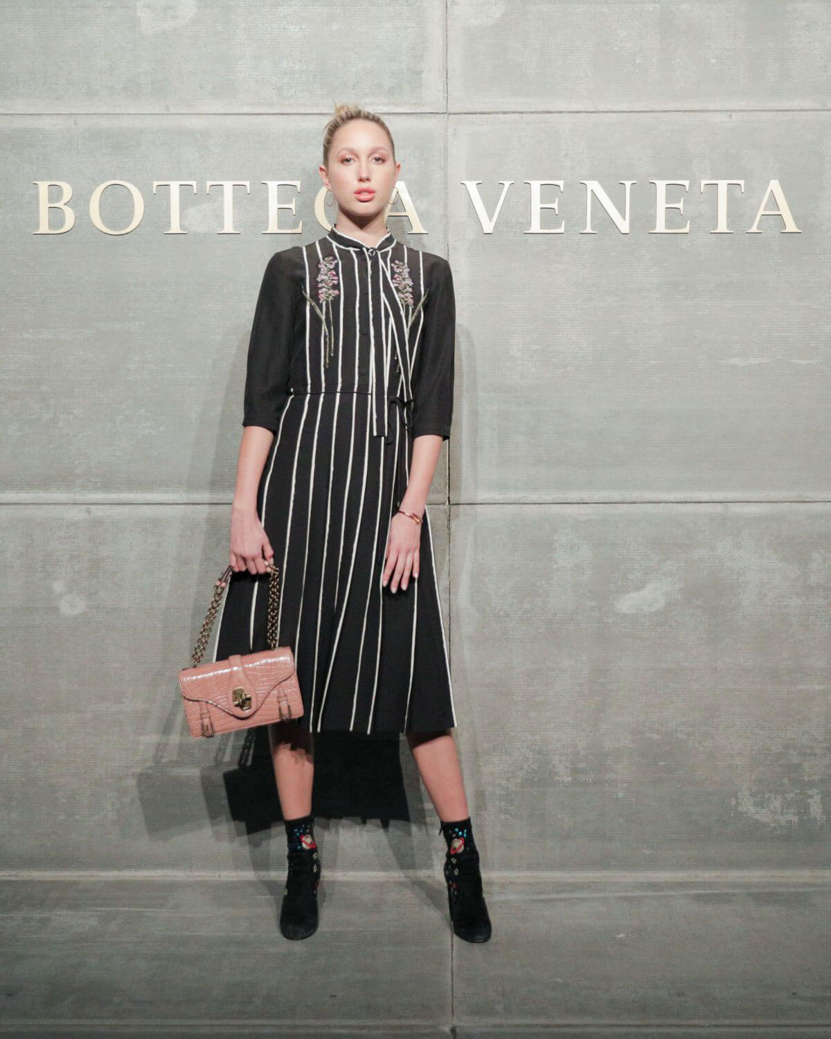 Princess Maria-Olympia of Greece and Denmark Stills at Bottega Veneta Show at New York Fashion Week 2018/02/09
