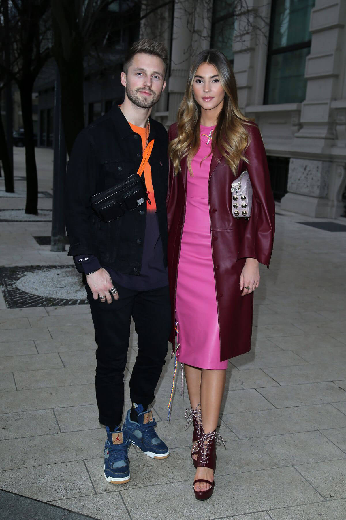 Stefanie Giesinger and Marcus Butler Stills Out in Milan 2018/02/23