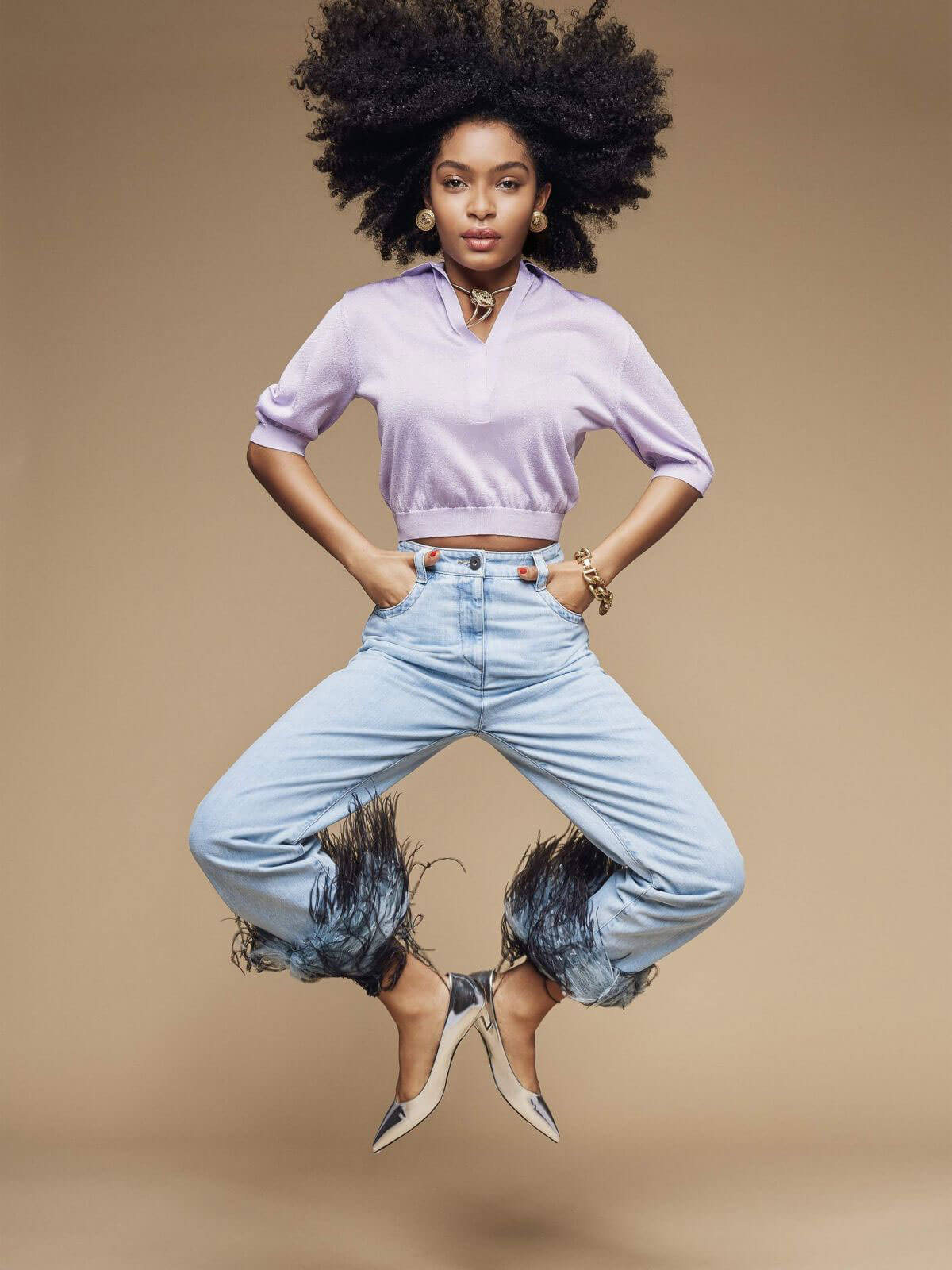Yara Shahidi Poses for Porter Magazine, February 2018 Photos