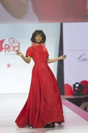 Zuri Hall Stills in Gown by Galia Lahav at Red Dress 2018 Collection Fashion Show in New York 2018/02/08