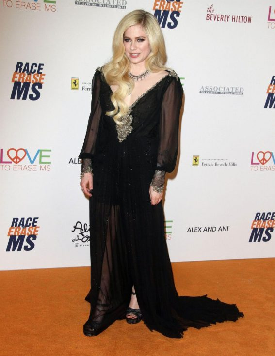 Avril Lavigne Stills at Race to Erase MS Gala 2018 in Los Angeles 2018/04/20 17