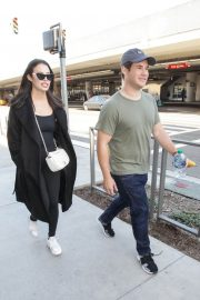Chloe Bridges and Adam Devine Stills at LAX Airport in Los Angeles 2018/04/20 2