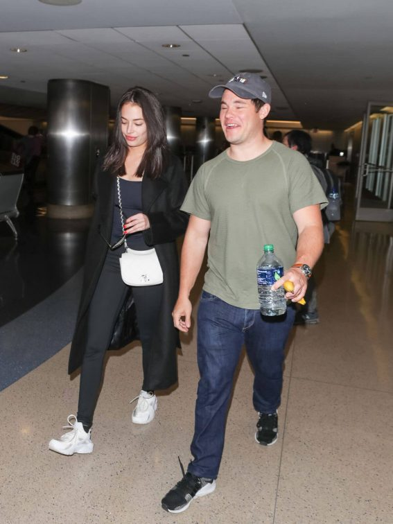 Chloe Bridges and Adam Devine Stills at LAX Airport in Los Angeles 2018/04/20 10