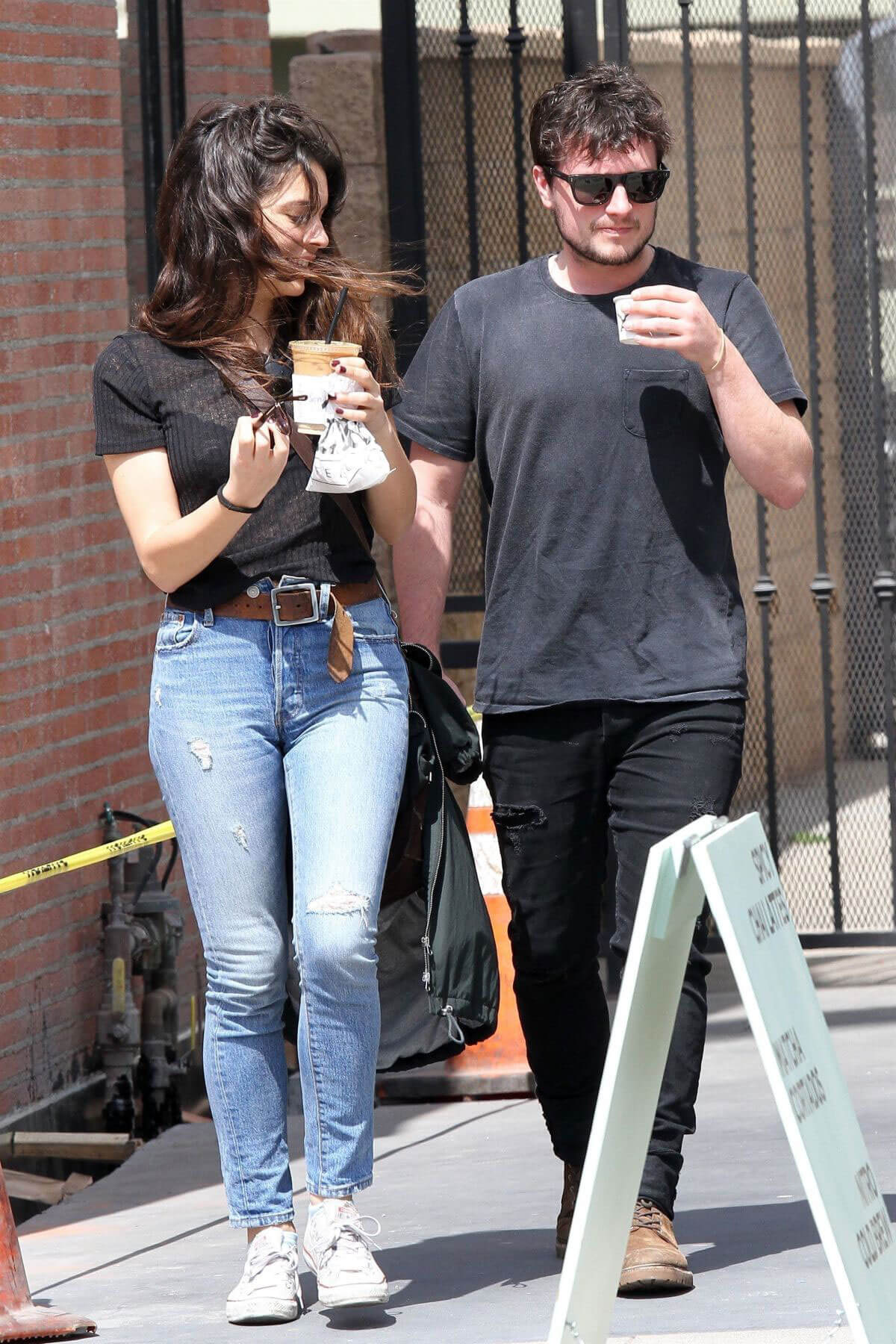 Claudia Traisac and Josh Hutcherson Stills Leaves Alfred's Coffee in Los Angeles 2018/04/05 10