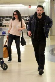 Courteney Cox and Johnny McDaid Stills at LAX Airport in Los Angeles 2018/04/20 10