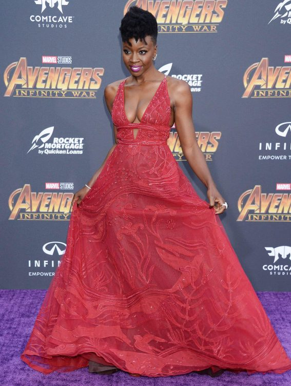 Danai Gurira Stills at Avengers: Infinity War Premiere in Los Angeles 2018/04/23 9