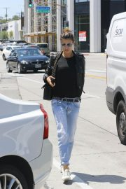 Elisabetta Canalis Stills in Jeans and Leather Jacket Out in West Hollywood 2018/04/26 3