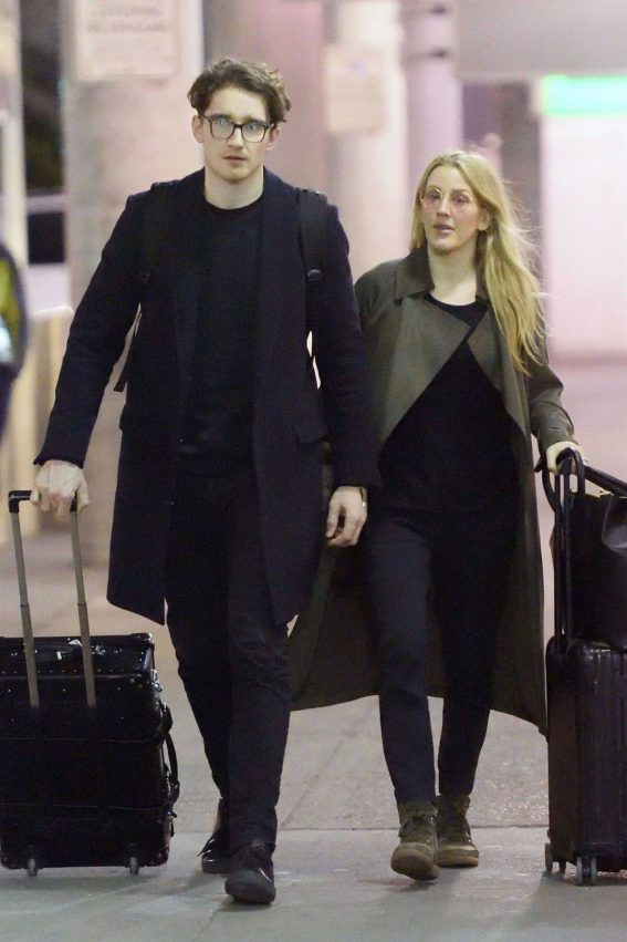 Ellie Goulding and Caspar Jopling Stills at JFK Airport in New York 2018/04/01 2