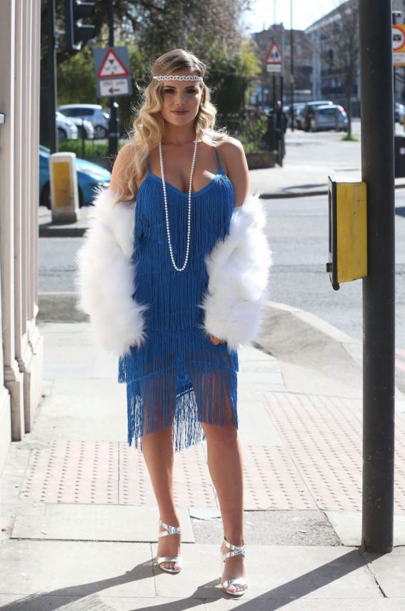 Georgia Kousoulou Stills at The Cast of TOWIE Filming a 20's Themed Event in London 2018/04/05 4