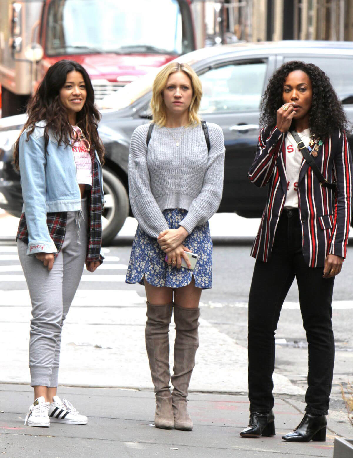 Gina Rodriguez, Rosario Dawson, Brittany Snow and DeWanda Wise Stills on the Set of Someone Great in New York 2018/04/18 29
