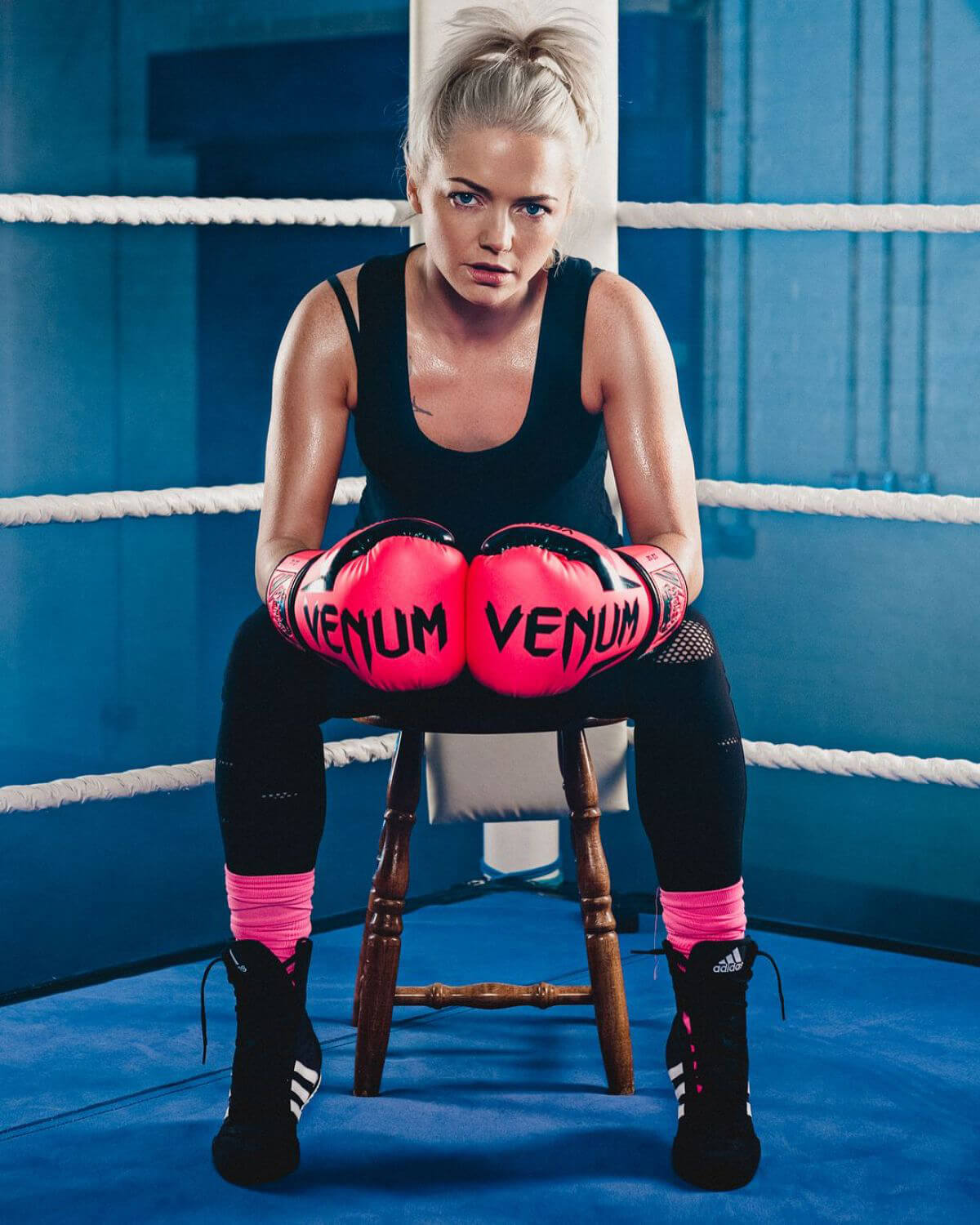 Hannah Spearritt Poses for Sport Relief Celebrity Boxing 2018 Issue 3