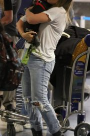 Hilary Duff with Her Dog Stills at LAX Airport in Los Angeles 2018/04/12 2