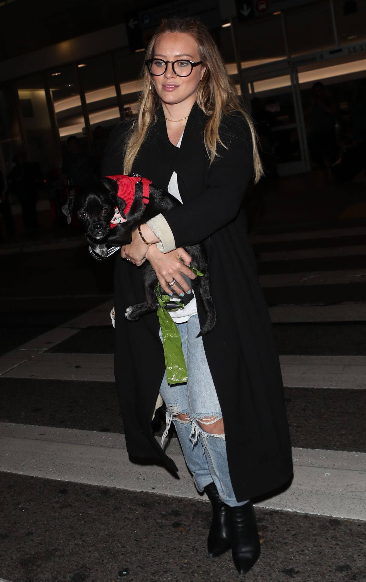 Hilary Duff with Her Dog Stills at LAX Airport in Los Angeles 2018/04/12 7