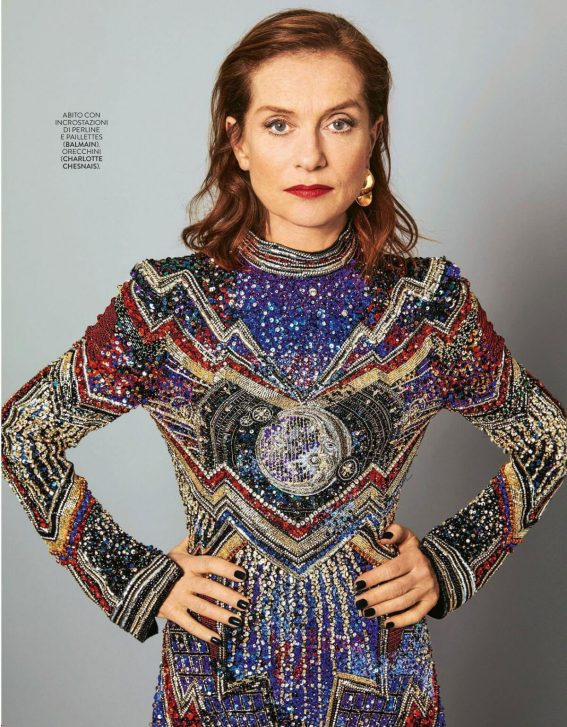 Isabelle Huppert Poses in Grazia magazine, April 2018 5