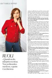 Isabelle Huppert Poses in Grazia magazine, April 2018 6
