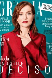 Isabelle Huppert Poses in Grazia magazine, April 2018 8