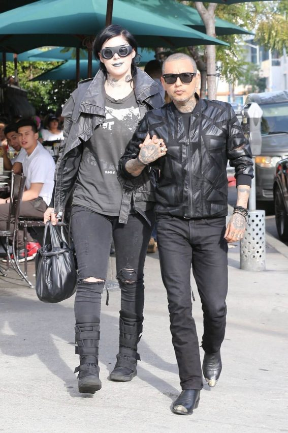Kat Von D and Rafael Reyes Stills Out for Lunch at Utah Cafe in Los Angeles 2018/03/30 13