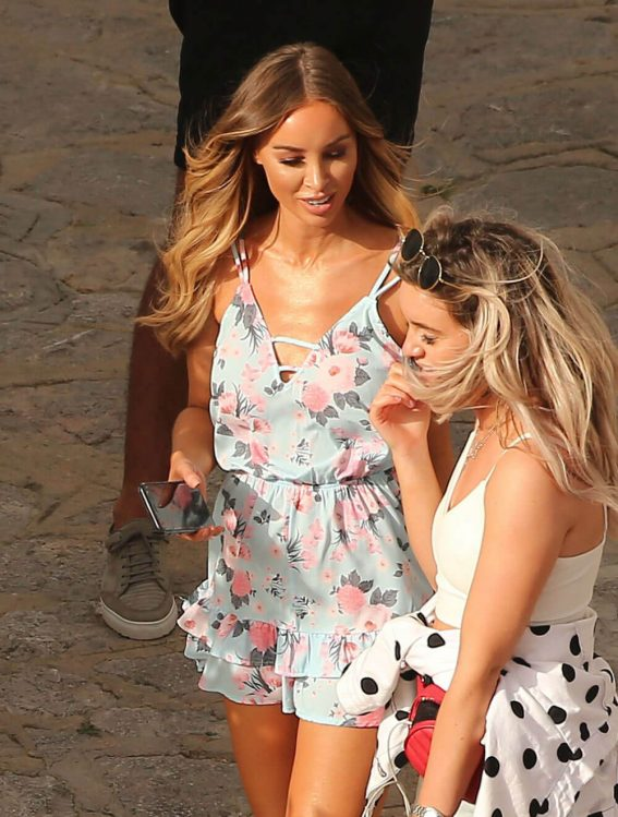 Lauren Pope and Chloe Lewis Stills on the Set of a Photoshoot in Ibiza 2018/04/22 10